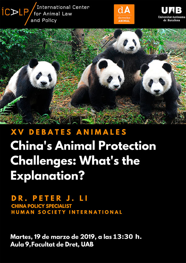 XV Debates Animales: China's Animal Protection Challenges: What's the Explanation?
