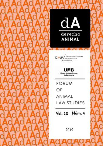 ICALP publica el vol. 10/4 (2019) de dA. Derecho Animal (Forum Of Animal Law Studies)